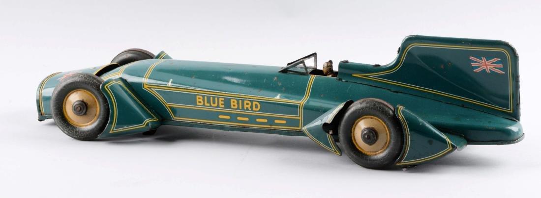 German Tin Litho Blue Bird Race Car. - 3