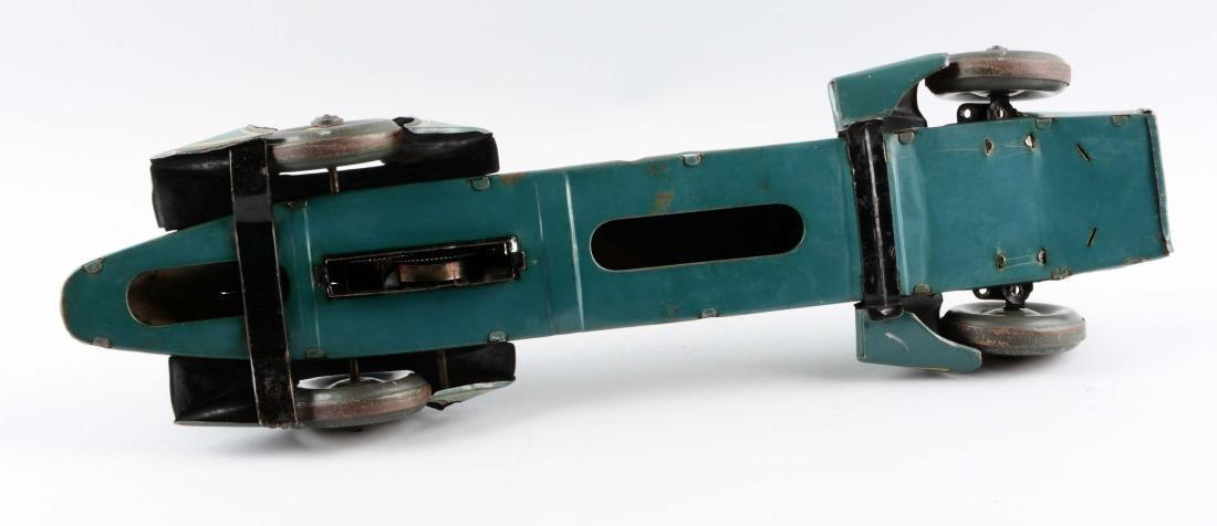 German Tin Litho Blue Bird Race Car. - 4