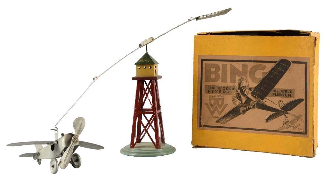 Bing Tin Litho Wind Up Airplane Set.