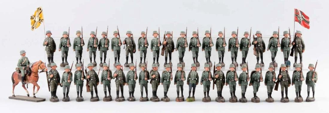 Large Lot Of German Elastolin WWII Soldiers.