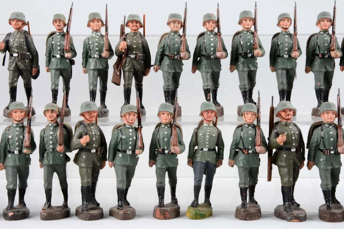 Large Lot Of German Elastolin WWII Soldiers. - 2