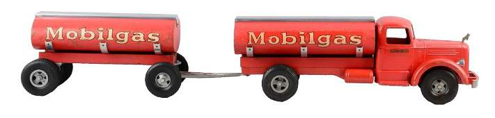 Pressed Steel Smith  Miller Mobiloil Tandem Gas Truck