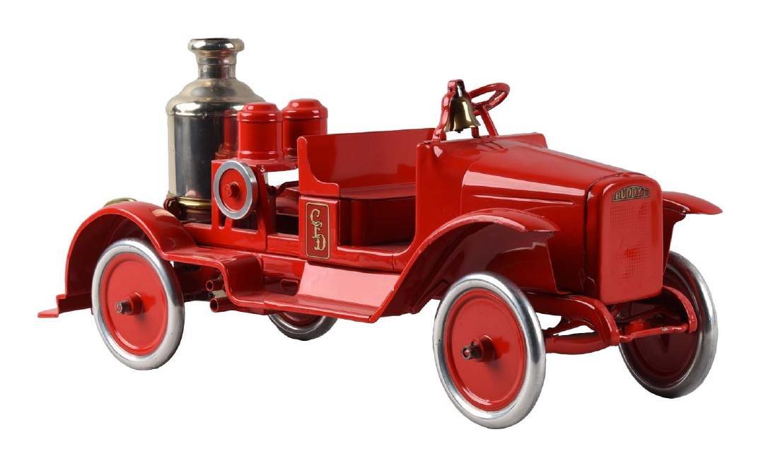 Pressed Steel Buddy L Fire Pumper Toy.