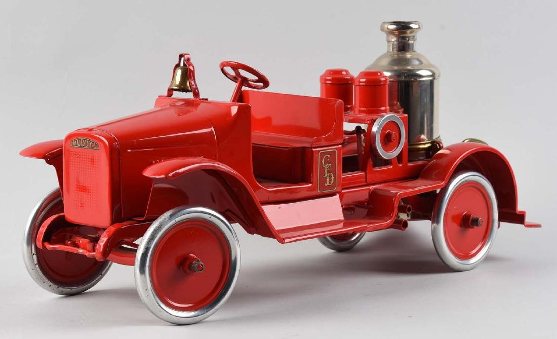Pressed Steel Buddy L Fire Pumper Toy. - 2