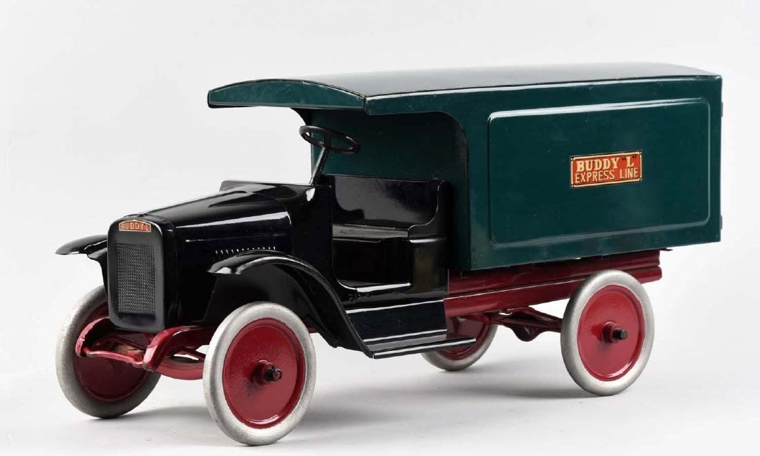 Pressed Steel Buddy L Express Line Moving Van. - 2