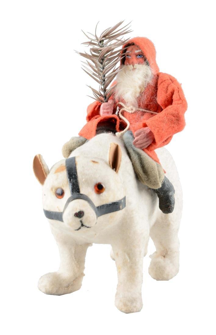 Earlier German Santa Claus Riding Polar Bear.