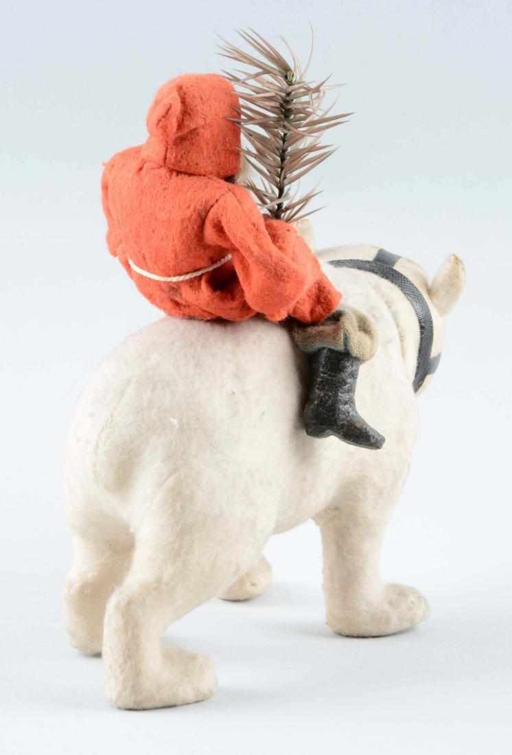 Earlier German Santa Claus Riding Polar Bear. - 2