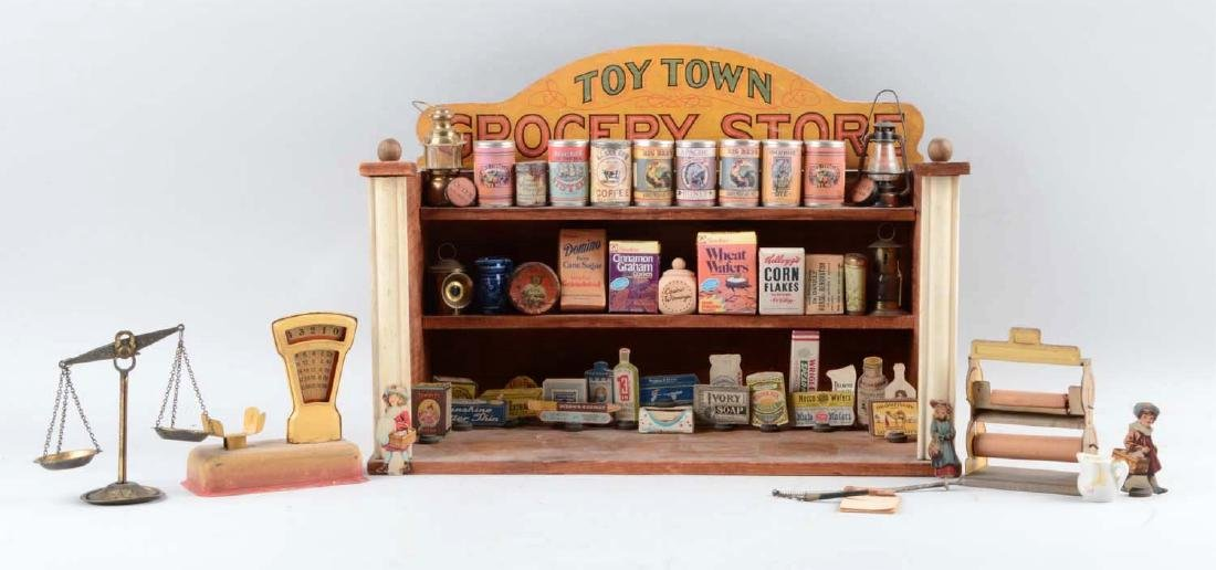 Wooden Toy Town Grocery Store.