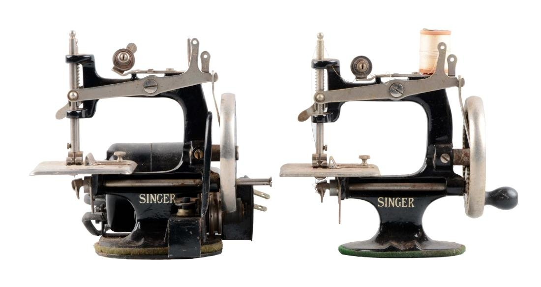 Lot Of 2: Children's Singer Sewing Machines.