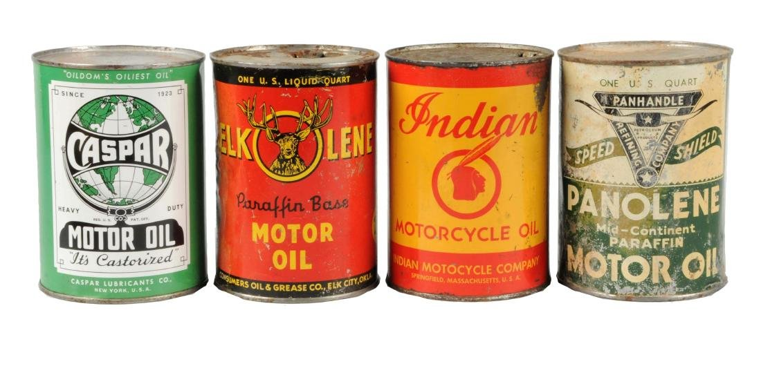 Lot of 4:  One Quart Motor Oil Cans.