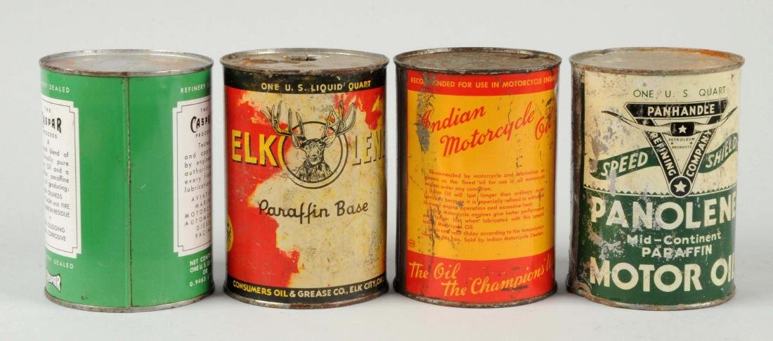Lot of 4:  One Quart Motor Oil Cans. - 2