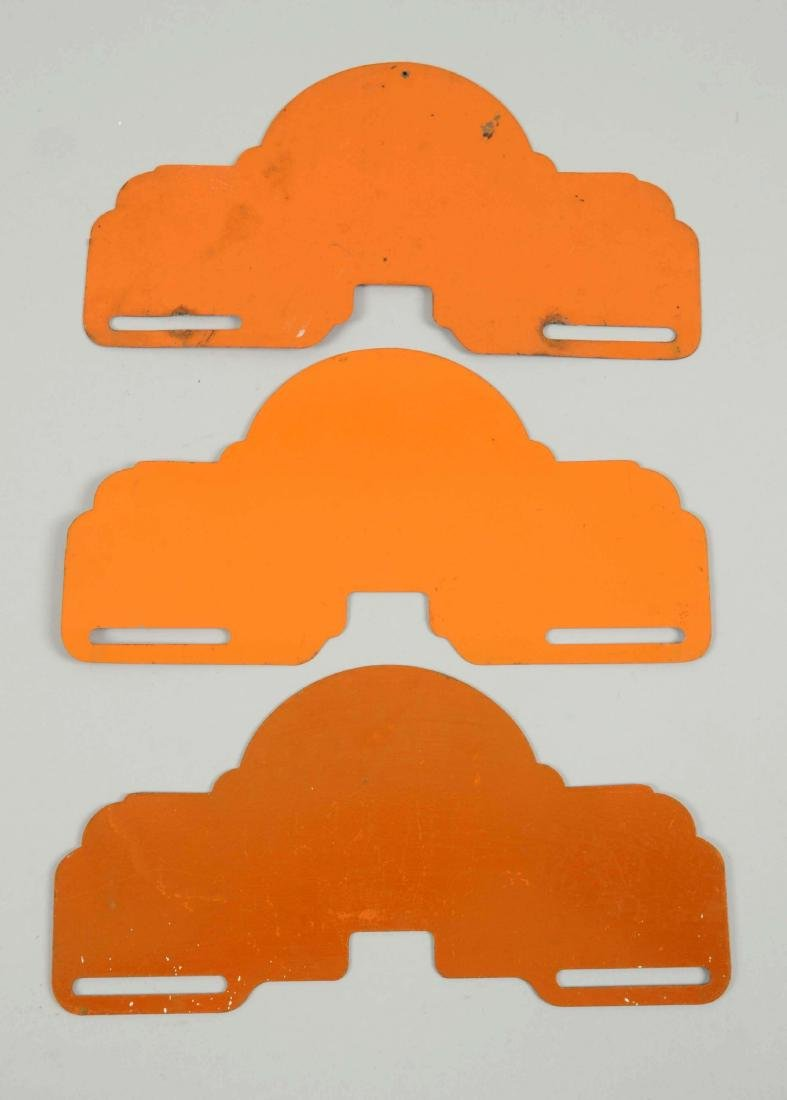 "Lot of 3:  Heccolene ""Hi-Power"" License Diecut Plate - 2"