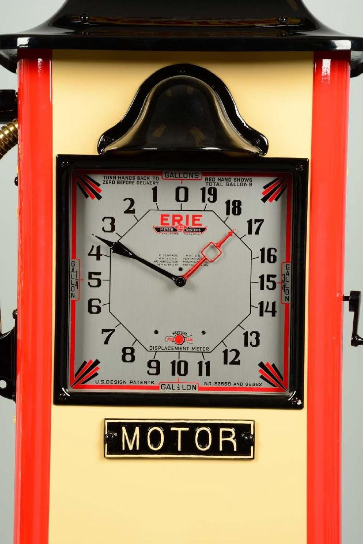 Erie Model #20 Clockface Gas Pump - Restored. - 3