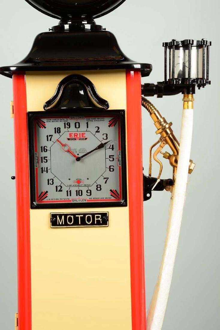 Erie Model #20 Clockface Gas Pump - Restored. - 8