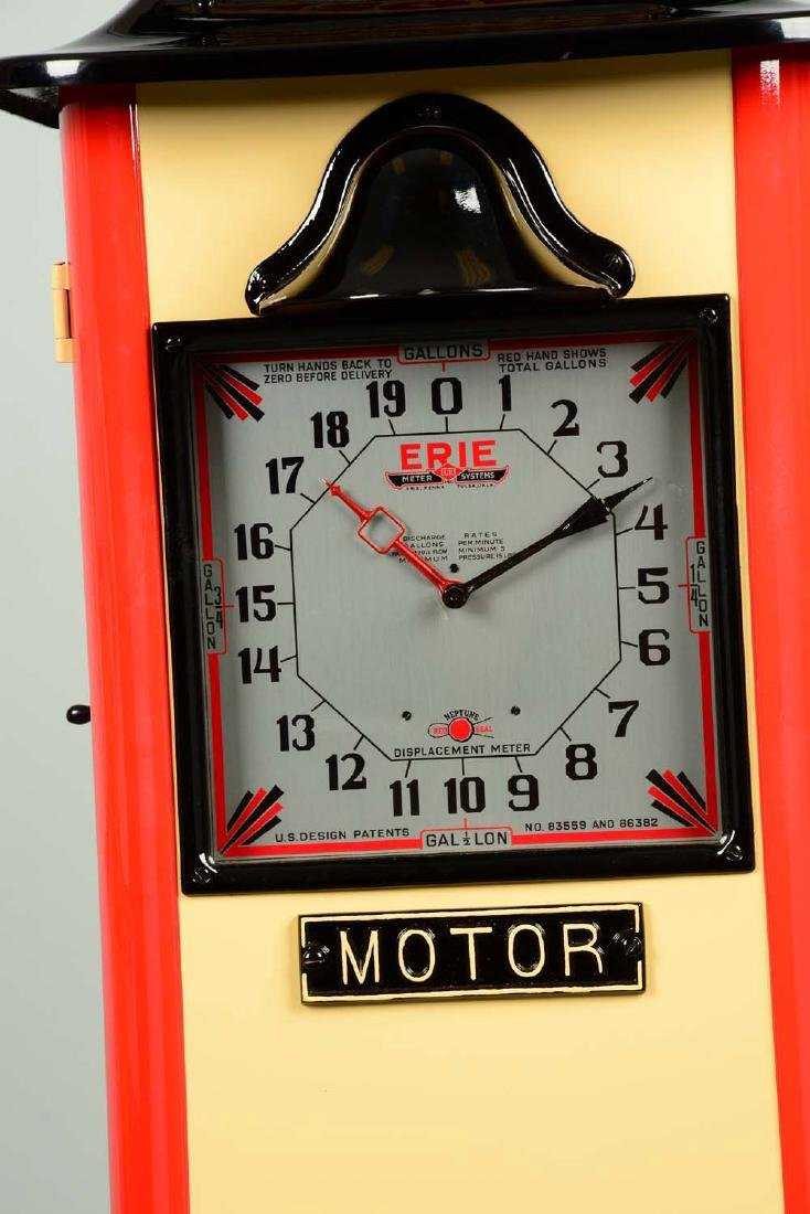 Erie Model #20 Clockface Gas Pump - Restored. - 9
