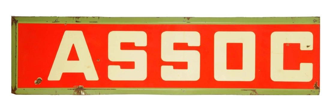 Associated 2-Piece Porcelain Sign.