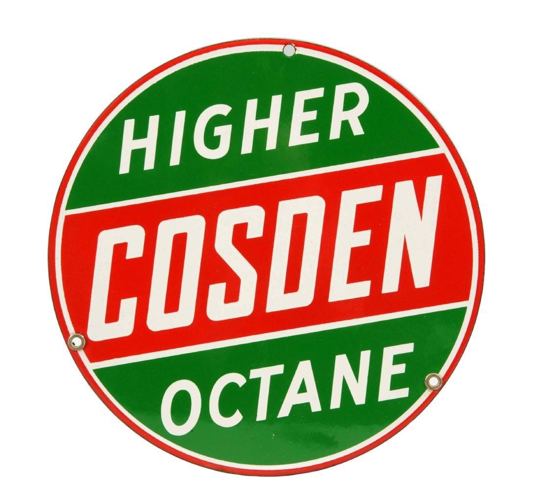 Cosden High Octane Porcelain Sign.
