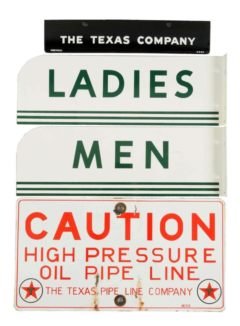 Lot of 4:  (Texaco) Men & Ladies Rest Room Signs.