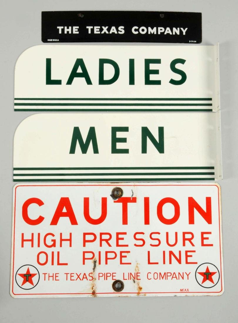 Lot of 4:  (Texaco) Men & Ladies Rest Room Signs. - 2