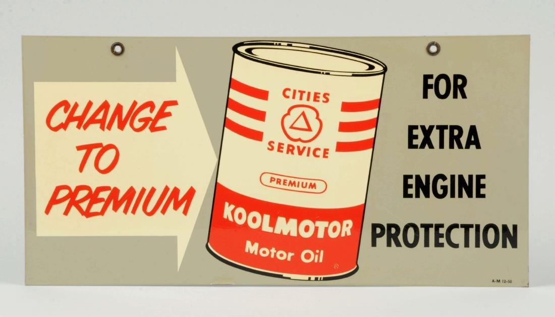 """Cities Service Koolmotor """"Change to Premium"""" Oil Metal - 3"""