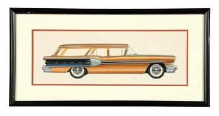1958 Pontiac Star Chief Wagon Automobile Detroit