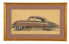 1944 Pontiac GM Concept Automobile Detroit Styling Art