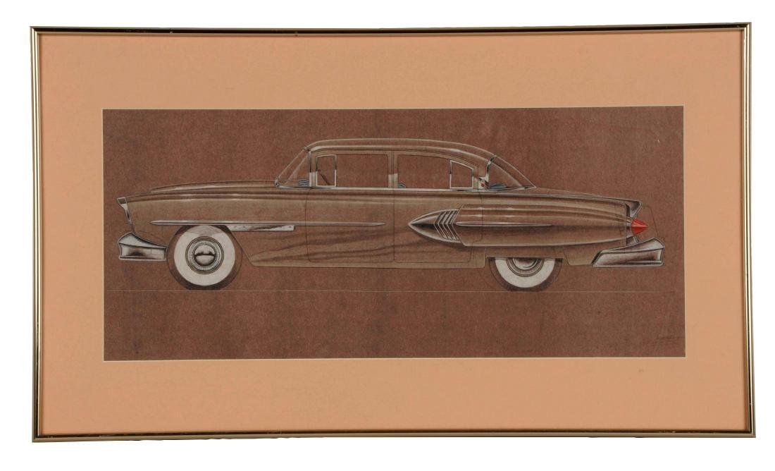 1954 Packard Automobile Detroit Styling Art Painting