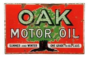 Oak Motor Oil Porcelain Sign.