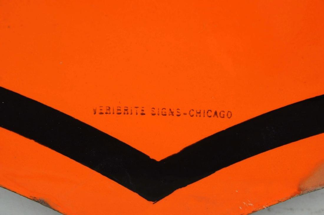 Phillips 66 (orange & black) Shield Shaped Porcelain - 3