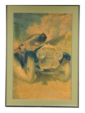 1910 Olds Motor Works Oilette Print.