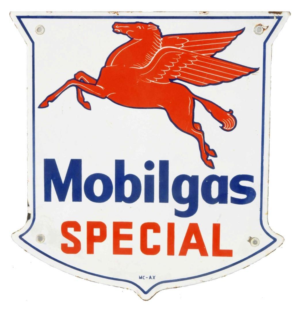 Mobilgas Special w/ Pegasus Shield Shaped Porcelain