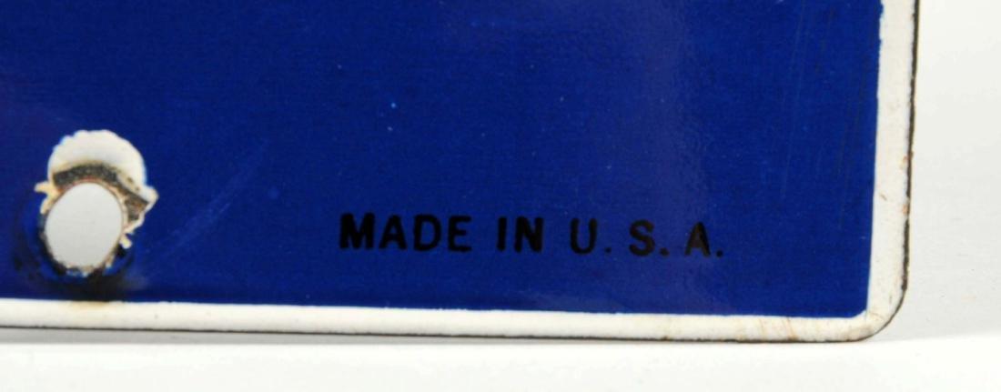 Indian Gasoline w/ Logo (large) Porcelain Sign. - 2