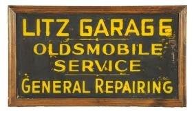 Litz Garage Oldsmobile Service Sign.