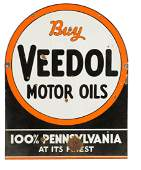 Buy Veedol Motor Oils Tombstone Shaped Porcelain Sign