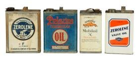 Lot of 4: One Gallon Motor Oil Cans.