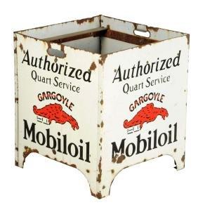 Mobiloil Authorized Quart Service Oil Bottle Display.