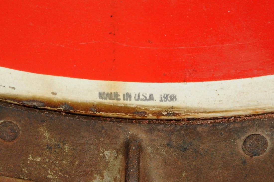Drink Coca-Cola Porcelain Curb Sign. - 4