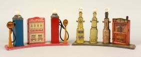 Lot of 2: Marx Gas Station Island Toys.