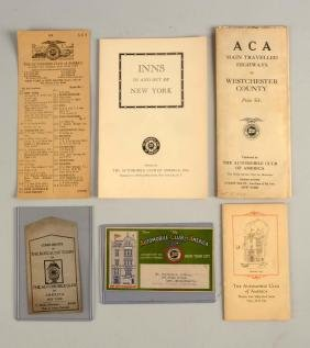 Lot Of 6: Automobile Club of America Maps & Booklets.