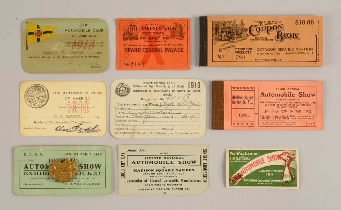 Lot of 10: Automobile Club of America Ephemera.
