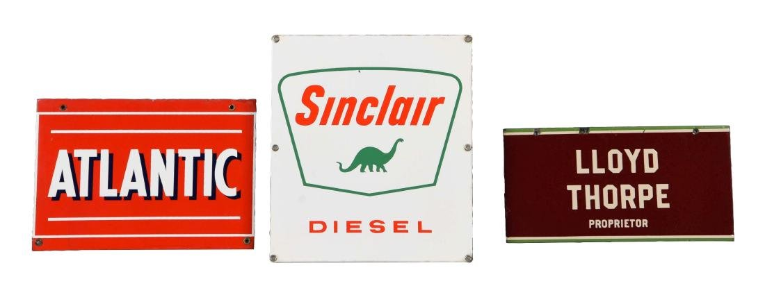 Lot of 3: Sinclair Diesel, Atlantic & Other Advertising