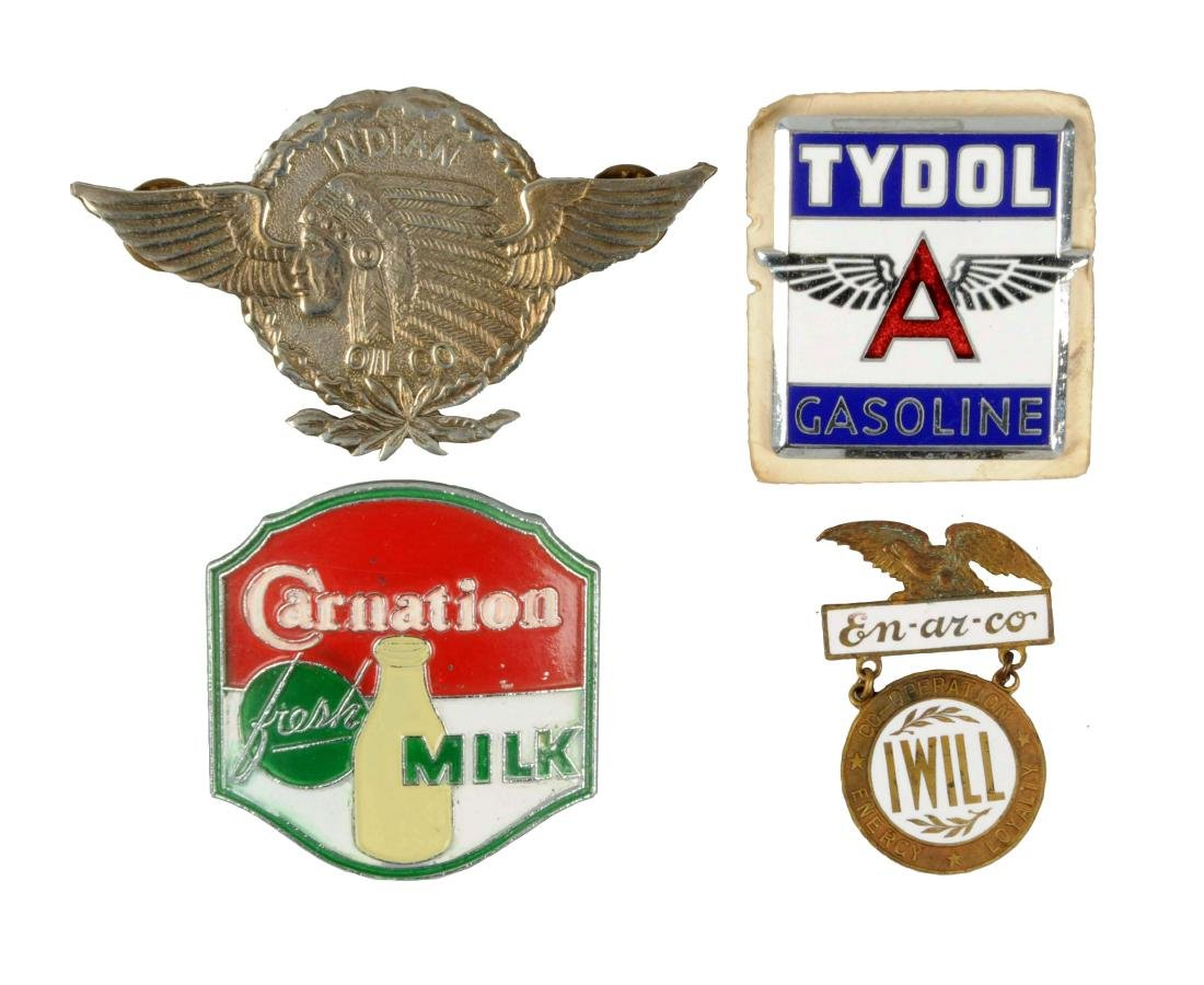Lot of 4: Advertising Badges.