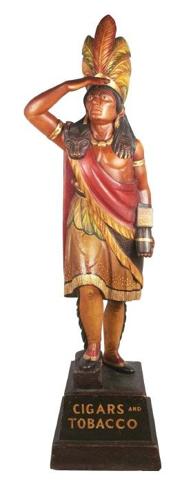 Wooden Cigar Store Indian.