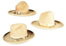 Lot Of 3: Vintage Cowboy Hats.