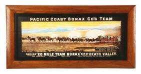 Framed Pacific Coast Borax Mule Team Print.