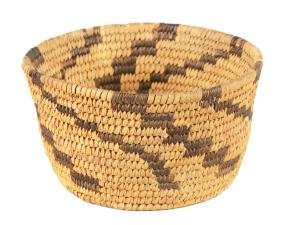 Native American Art Small Pima Storage Basket.