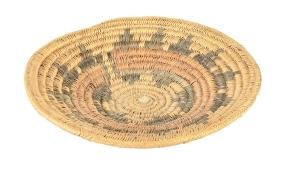 Native American Weaving Navajo Wedding Basket Circa