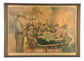 Framed Cyrus Noble Whiskey Advertisement.