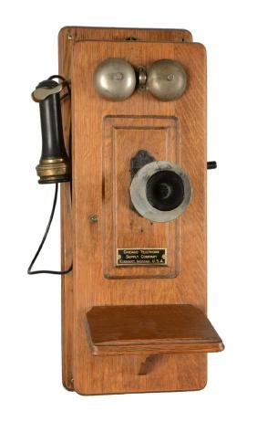 Early Chicago Telephone Supply Company Crank Telephone.
