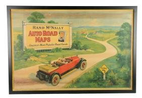 Rand McNally Auto Road Maps Advertising Poster In